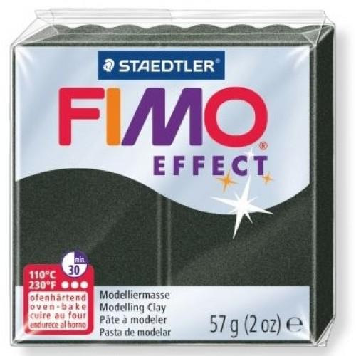 Полимерная глина FIMO effect, 57гр,перламутровый чёрный