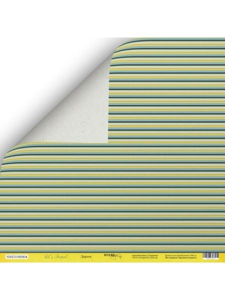 Лист двусторонней бумаги 30x30 от Scrapmir Дорога из коллекции Let's Travel