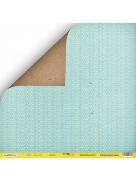 Лист двусторонней бумаги 30x30 от Scrapmir Страна из коллекции Let's Travel
