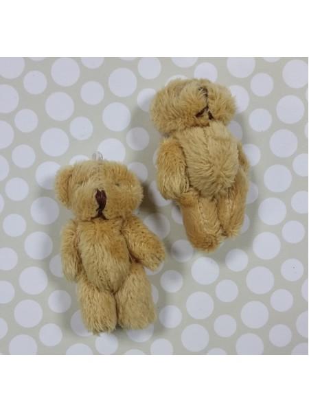 Игрушка для куклы-Мишка бежевый,6см. цена за 1 шт