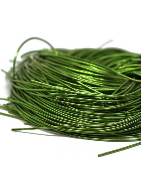 Канитель гладкая ,цвет зелёный,1 мм- 5 гр,№159