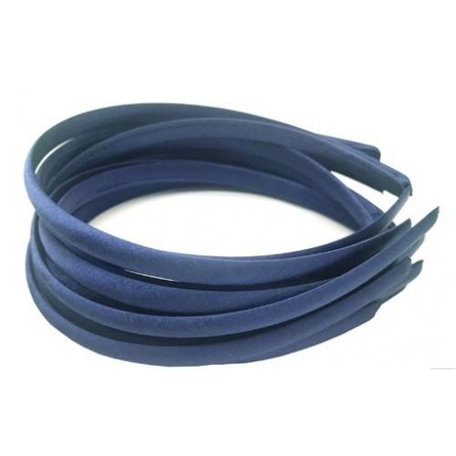 Обруч пластиковый в атласной ленте,10 мм-№11-темно-синий