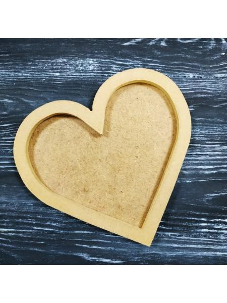 Заготовка-Артборд- сердце с фаской, двухслойный,20*21см