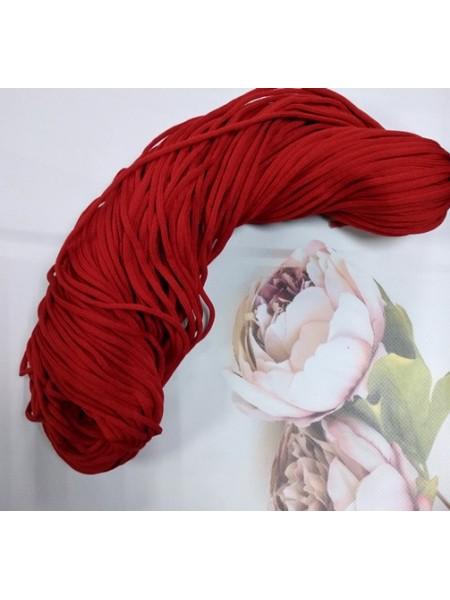 Полиэфирный шнур для вязания,4мм,цв-красный,100м