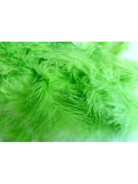 Перья декоративные,цв-зелёный.цена за уп-6гр