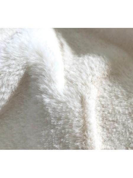 """Мех """"Мутон"""", средний ворс (50 см*56 см) 100%п/э,цв.молочный"""