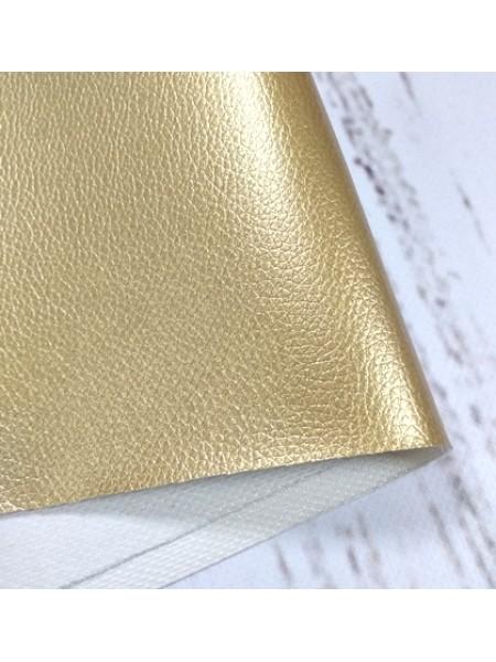 Искусственная кожа с тиснением,23*35см,цв-золото