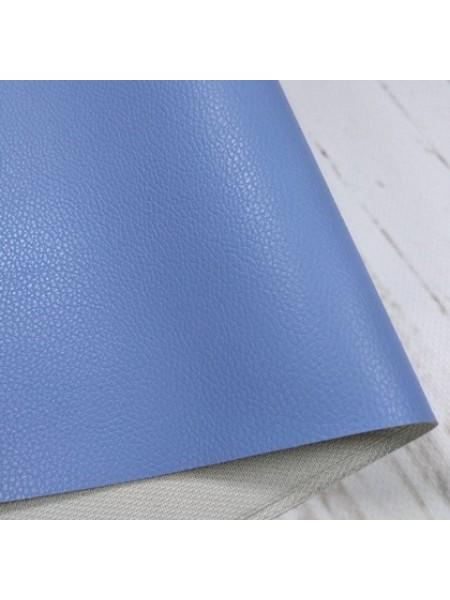 Искусственная кожа с тиснением,23*35см,цв-голубой