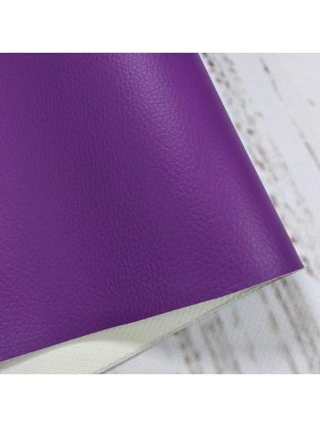 Искусственная кожа с тиснением,23*35см,цв-фиолетовый