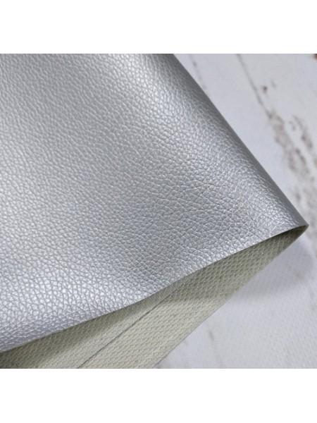 Искусственная кожа с тиснением,23*35см,цв-серебро