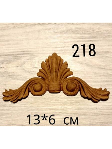 Декор из древесной пульпы-№218, 13*6 см