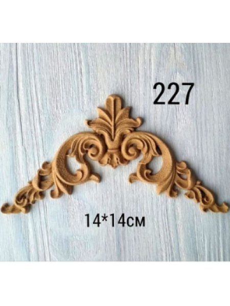 Декор из древесной пульпы-№227, 14*14 см