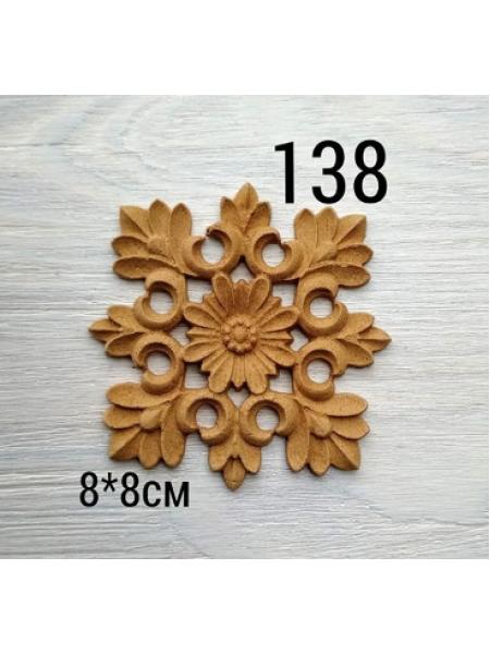 Декор из древесной пульпы-№138, 8*8см