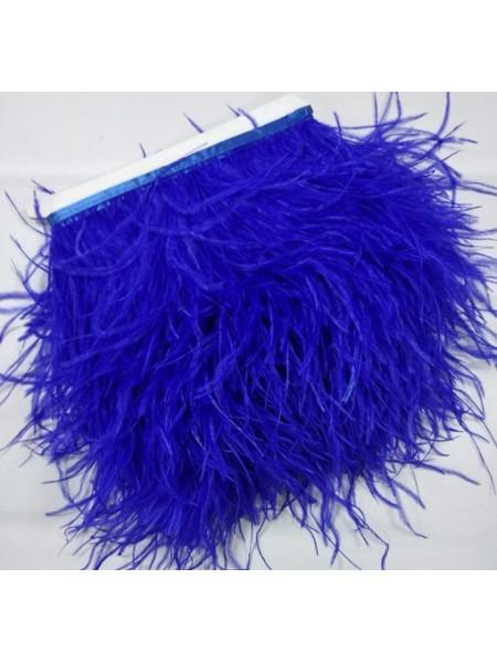 Тесьма из перьев ,цвет синий, цена за 10 см