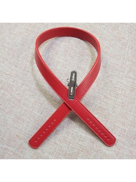 Ручки для сумки.цв-красный, 62см. цена за пару