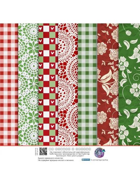 Набор новогодней бумаги 20*20 см. 14 листов,ВКН-6