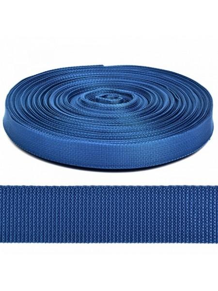 Стропа-ременная лента, 25 мм,цв-синий.цена за 1 м