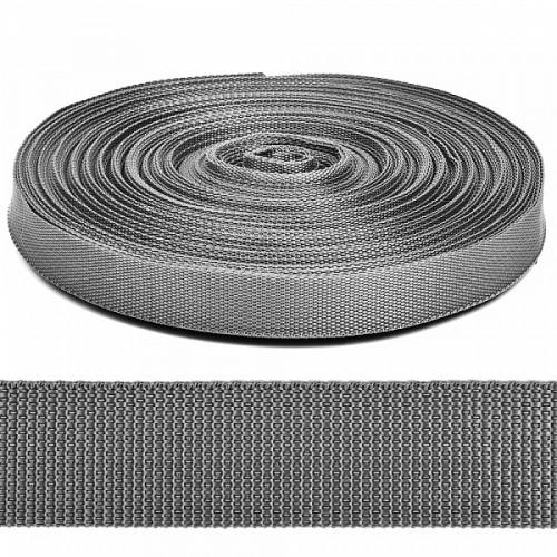 Стропа-ременная лента, 30 мм,цв-серый.цена за 1 м