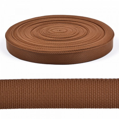 Стропа-ременная лента, 30 мм,цв-коричневый.цена за 1 м