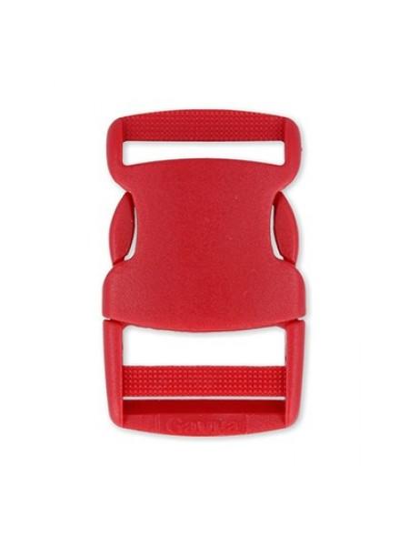 Пряжка-замок (фастекс) -25 мм, цв красный,цена за 1 шт