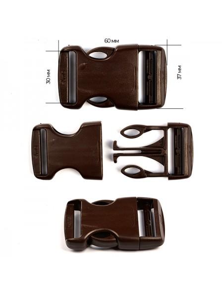 Пряжка-замок (фастекс) -30 мм, цв коричневый,цена за 1 шт