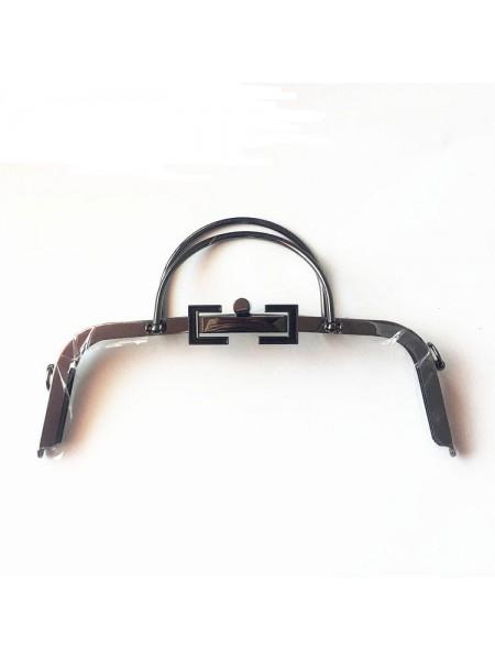 Фермуар с  двумя ручками для сумочки,на винтиках,чёрный никель, 30см