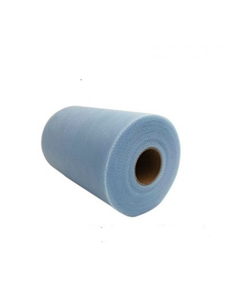 Лента фатиновая, 15 см цв-№-21,цв.тёмно-голубой,цена за 1 метр