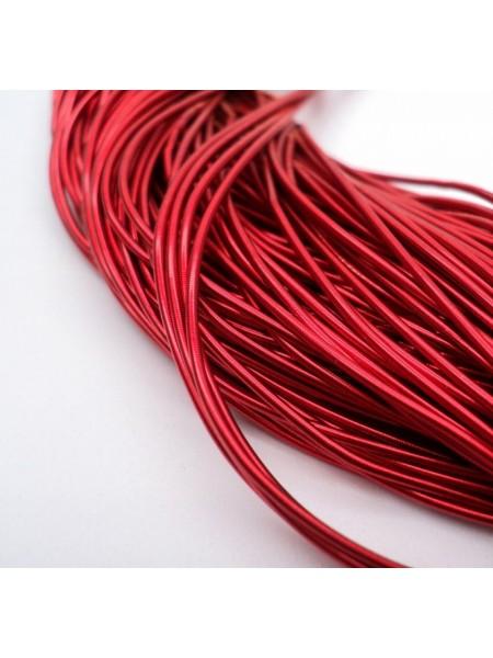 Канитель гладкая , красная,1 мм- 5 гр,№050