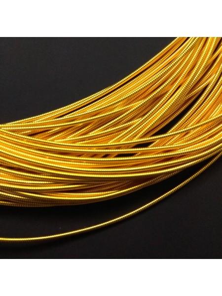 Канитель жёсткая , яркое золото,1,2 мм-6-10гр,цена за 5 гр,№003