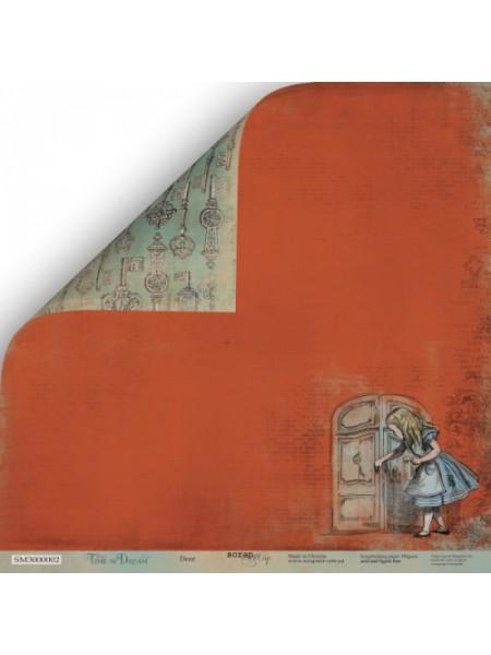 Лист двусторонней бумаги 30x30 от Scrapmir Дверь из коллекции Time to Dream