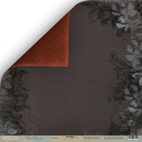 Лист двусторонней бумаги 30x30 от Scrapmir Темнота из коллекции Time to Dream