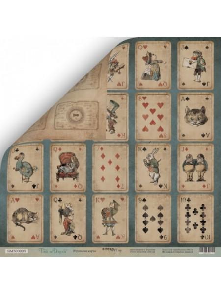 Лист двусторонней бумаги 30x30 от Scrapmir Игральные карты из коллекции Time to Dream
