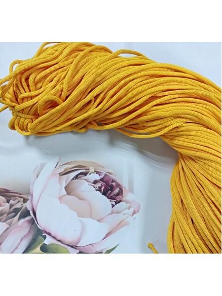 Полиэфирный шнур для вязания,4мм,цв.желтый,100м