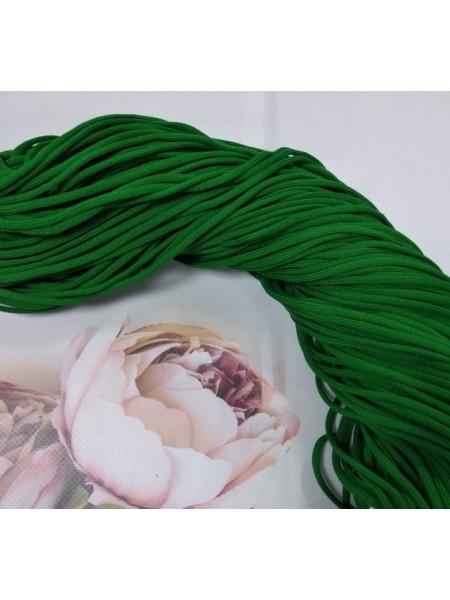 Полиэфирный шнур для вязания,4мм,цв-зелёный,100м