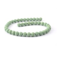 Бусины из лавы.цв-св-зелёный,12 мм, цена за 4 шт