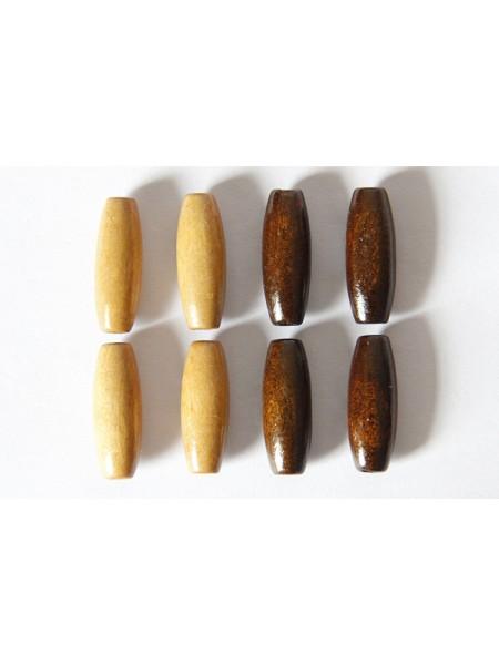 Бусины деревянные,лакированные,светлые 8*22,5мм. цена 10  шт