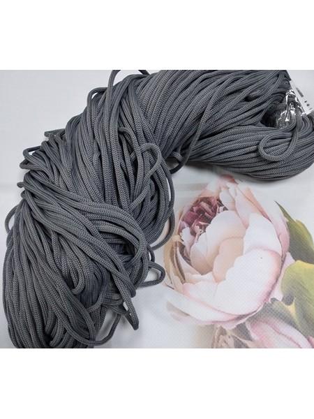 Полиэфирный шнур для вязания,4мм,цв-серый,100м