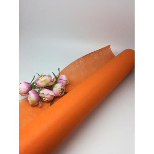Фетр  флористический; оранжевый, цена за 1 метр