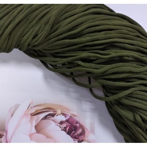 Полиэфирный шнур для вязания,4мм,цв-хаки,100м
