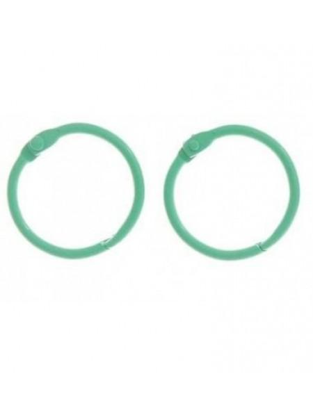 Кольца для альбомов, 2 шт,мятные-30 мм