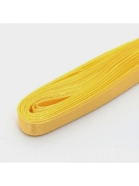 Лента атласная,6мм, в уп.5,4м,№15,жёлтая.Цена за уп