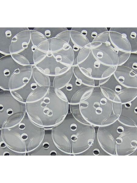 Пуговицы прозрачные,11мм. цена за 1 шт