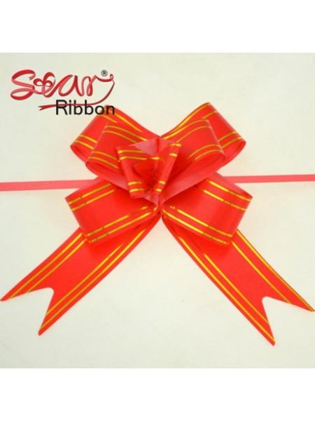 Бантик подарочный ,цв-красный ,13*16 см