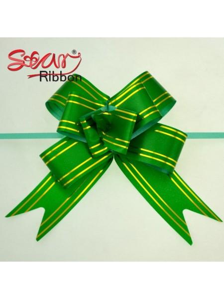 Бантик подарочный ,цв-зелёный ,13*16 см