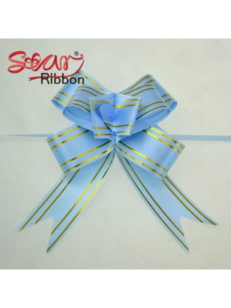 Бантик подарочный ,цв-голубой ,13*16 см