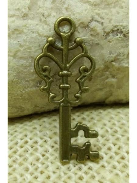 Подвеска ключик большой,бронза