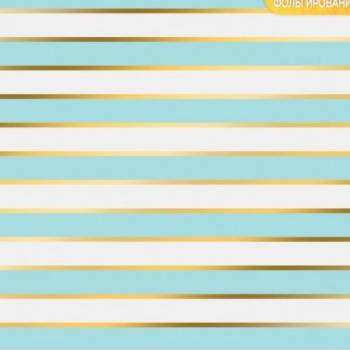 """Бумага с фольгированием  """"Голубые полосы"""",,30,5 см ? 30,5 см, цена за 1 лист"""