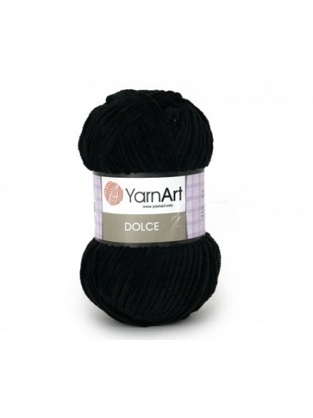 Плюшевая пряжа Dolce YarnArt ,№742,цв-чёрный,100гр