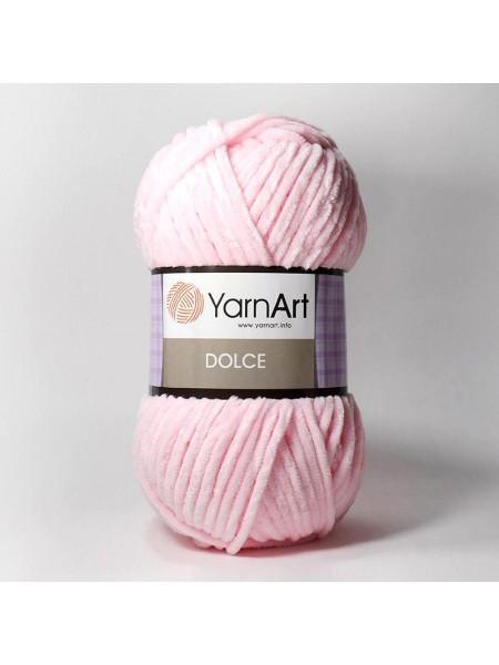Плюшевая пряжа Dolce YarnArt ,№750,цв-св-розовый,100гр