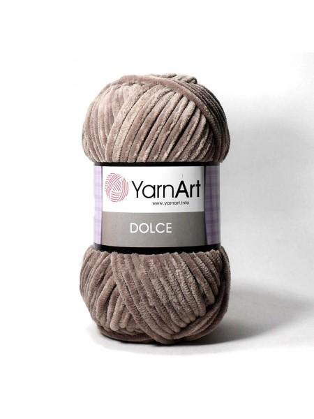 Плюшевая пряжа Dolce YarnArt ,№754,цв-тёмно-бежевый,100гр